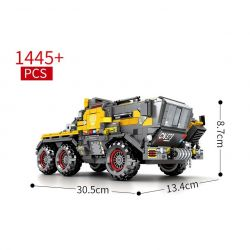 SEMBO 107006 Xếp hình kiểu Lego THE WANDERING EARTH CargoTruck-Iron Truck Xe vận chuyển bọc thép 1445 khối
