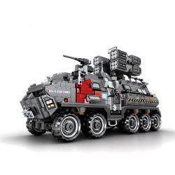 Sembo 107007 (NOT Lego The Wandering Earth Military Truck ) Xếp hình Xe Bọc Thép Chiến Đấu 1925 khối
