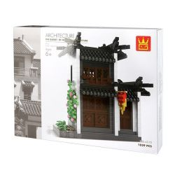 Wange 4310 (NOT Lego Architecture The Garret Of Hui-Style Architecture ) Xếp hình Nhà Gác Xép Kiểu Trung Hoa 1039 khối
