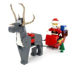 SHENG YUAN SY SY1259 1259 Xếp hình kiểu Lego MISCELLANEOUS 2018 Lego Employee Christmas Gift Ông Già Noel Cưỡi Xe Tuần Lộc Kéo 1099 khối