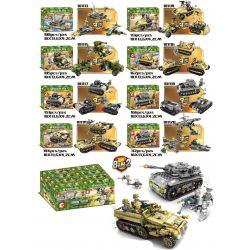 SEMBO 101113 101114 101115 101116 101117 101118 101119 101120 101324 Xếp hình kiểu Lego EMPIRES OF STEEL Steel Empire 8in2 Phương Tiện Quân Sự Kết Hợp Thành Xe Tăng Lớn Và Xe Tải Lớn gồm 8 hộp nhỏ lắp