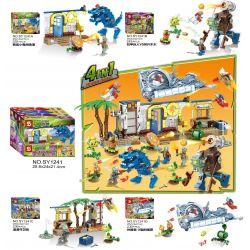 Sheng Yuan 1241 SY1241 (NOT Lego Plants vs Zombies Plants Vs Zombies ) Xếp hình Hoa Quả Nổi Giận gồm 4 hộp nhỏ 964 khối