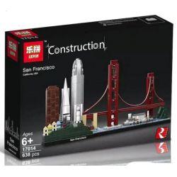 Lepin 17014 (NOT Lego Architecture 21043 San Francisco ) Xếp hình Thành Phố Mỹ 565 khối