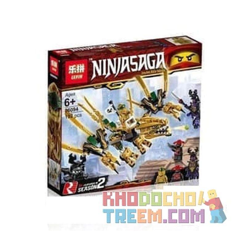 NOT Lego THE LEGO NINJAGO MOVIE 70666 The Golden Dragon, Bela 11160 Lari 11160 LELE 31180 LEPIN 06094 SHENG YUAN SY SY1252A 1252A Xếp hình Rồng Vàng 171 khối