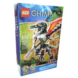 XSZ KSZ 806 813 Xếp hình kiểu Lego LEGENDS OF CHIMA CHI Cragger Qigong Legend Qigong Crocodator Chiến Binh Cá Sấu 65 khối
