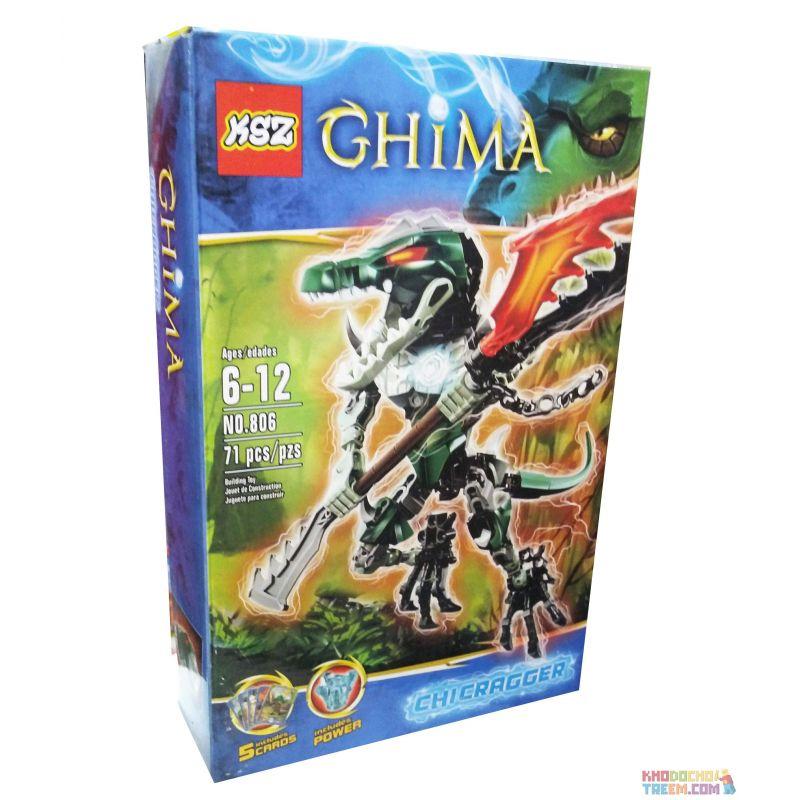 NOT Lego LEGENDS OF CHIMA 70203 CHI Cragger Qigong Legend Qigong Crocodile Overlord , XSZ KSZ 806 813 Xếp hình Chiến Binh Cá Sấu 65 khối