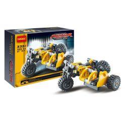 Decool 3351 (NOT Lego Technic 8045 Motor Tricycle Exploiture ) Xếp hình Mô Tô 3 Bánh Sidecar (Mẫu 2) 117 khối