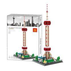 WANGE 5224 Xếp hình kiểu Lego CREATOR The Oriental Pearl Tower-CHINA China Shanghai Oriental Pearl Tháp Hòn Ngọc Phương đông 1109 khối