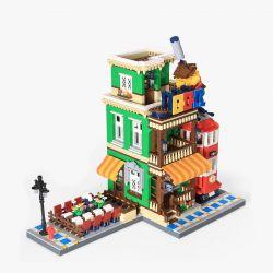 WANGE 6313 Xếp hình kiểu Lego MODULAR BUILDINGS BBQ Restaurant Nhà hàng BBQ 1922 khối