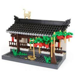 Wange 3312 (NOT Lego Architecture The Corridor Of Hui-Style Architecture ) Xếp hình Hành Lang Kiểu Trung Hoa 506 khối