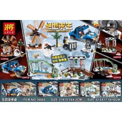 LELE 36065 36065-1 36065-2 36065-3 36065-4 Xếp hình kiểu Lego PUBG BATTLEGROUNDS Lễ hội Carnival Vikandi 4 gồm 4 hộp nhỏ 482 khối