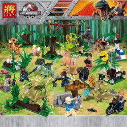 LELE 39160 Xếp hình kiểu Lego JURASSIC WORLD Catch The Escaped Dinosaur Purchase Of Dinosaur 8 Bắt 8 Con Khủng Long Trốn Thoát 433 khối