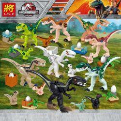 LELE 39160 Xếp hình kiểu Lego JURASSIC WORLD Bắt 8 con khủng long trốn thoát 433 khối