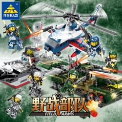 Kazi Gao Bo Le Gbl Bozhi KY84067 (NOT Lego Field Army Field Army ) Xếp hình Tàu Chiến, Xuồng Cao Tốc, Xe Rà Mìn, Xe Bọc Thép, Tiêm Kích, Trực Thăng Chiến Đấu gồm 6 hộp nhỏ lắp được 9 mẫu 672 khối
