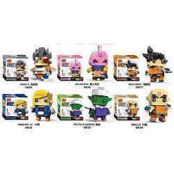 Decool 6829 6830 6831 6832 6833 6834 (NOT Lego Dragon Ball Vegeta, Majin Buu, Sun Goku, Android 18, Piccolo Daimao, Krilin ) Xếp hình gồm 6 hộp nhỏ 913 khối
