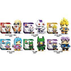 Decool 6823 6824 6825 6826 6827 6828 (NOT Lego Dragon Ball Master Roshi, Frieza, Saiyan, Bulma, Cell, Trunks ) Xếp hình gồm 6 hộp nhỏ 939 khối