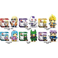 Decool 6823 6824 6825 6826 6827 6828 (NOT Lego Dragon Ball Master Roshi, Frieza, Saiyan, Bulma, Cell, Trunks ) Xếp hình Roshi, Frize, Songoku,bulma,cell,trunks gồm 6 hộp nhỏ 939 khối