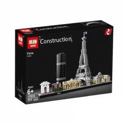 Lepin 17015 (NOT Lego Architecture 21044 Paris ) Xếp hình Các Kỳ Quan Kiến Trúc Nước Pháp 694 khối