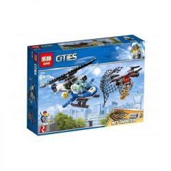 LARI 11207 LEPIN 02126 Xếp hình kiểu Lego CITY Sky Police Drone Chase Air Special Police Air Special Police Drone Pursuit Cảnh Sát đuổi Máy Bay Không Người Lái 192 khối