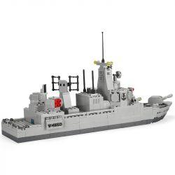 WANGE 4660 Xếp hình kiểu Lego MILITARY ARMY LEGION:Destroyer tàu chiến Legion 528 khối