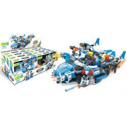 CAYI 1531 1531A 1531B 1531C 1531D Xếp hình kiểu Lego POLICE Thunder Police Glow Cruiser Thunder Glow Cruise Chariot 4 Combination Of Liberator Fighters, Huge Waves Four-sugge Machine, Blue Card Fighte