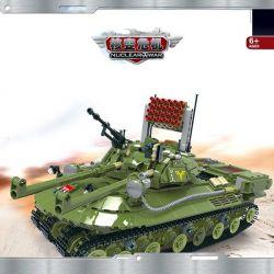 CAYI 2013 Xếp hình kiểu Lego NUCLEAR WAR Nuclear War 279 xe tăng hạt nhân kỹ thuật 1517 khối