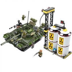 CAYI 2012 Xếp hình kiểu Lego NUCLEAR WAR Nuclear War T72 Main Battle Tank Nuclear Transition Crisis Xe Tăng Chiến đấu T72 1028 khối