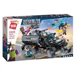 Enlighten 1930 Qman 1930 KEEPPLEY 1930 Xếp hình kiểu Lego POLICE Battle Force Vụ cướp xe bọc thép 970 khối
