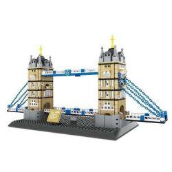 WANGE 4219 Xếp hình kiểu Lego CREATOR The Tower Bridge Of LODON-England Cầu tháp Luân Đôn 969 khối