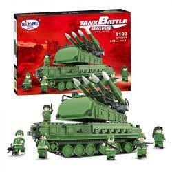 Winner 8103 Xếp hình kiểu Lego TANK BATTLE TankBattle Land War 9M317 Air Defense Missile Xe Tăng Phòng Không 823 khối