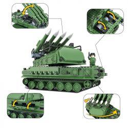 Winner 8103 Xếp hình kiểu Lego TANK BATTLE TankBattle Xe tăng phòng không 823 khối