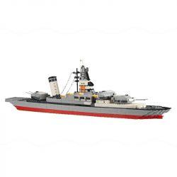 DR.LUCK 5660 WANGE 5660 Xếp hình kiểu Lego MILITARY ARMY LEGION Battleship Legion Chiến Hạm 774 khối