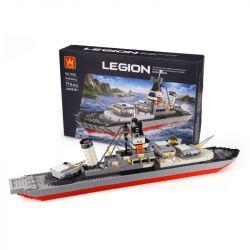 WANGE 5660 Xếp hình kiểu Lego MILITARY ARMY LEGION Battleship Legion Chiến Hạm 774 khối