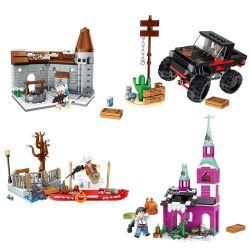 Lele 36066 (NOT Lego PUBG Battlegrounds Survival ) Xếp hình Trận Chiến Sinh Tồn lắp được 4 mẫu 734 khối