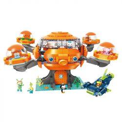 Enlighten 3716 Qman 3716 KEEPPLEY 3716 Xếp hình kiểu Lego OCTONAUTS Octonauts Tàu ngầm bạch thuộc 921 khối