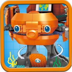 Enlighten 3716 Qman 3716 Xếp hình kiểu Lego OCTONAUTS Seabed Small Column Octopus Fort Set 2.0 Tàu Ngầm Bạch Thuộc 921 khối