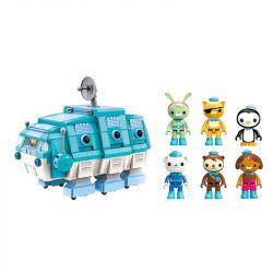 Enlighten 3715 Qman 3715 Xếp hình kiểu Lego OCTONAUTS Seabed Small Column Water Worm Boat Thuyền Bọ Gấu Nước 766 khối