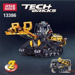 NOT Lego TECHNIC 42094 Tracked Loader, JISI 13386 LARI 11300 MOULDKING 13034 13035 RUIZHI BEE 841 Xếp hình Xe nâng bánh xích lắp được 2 mẫu 827 khối