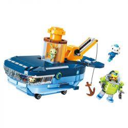 Enlighten 3714 Qman 3714 Xếp hình kiểu Lego OCTONAUTS Seabed Small Column Blue Whaft Set Tàu Ngầm Cá Voi Xanh 630 khối