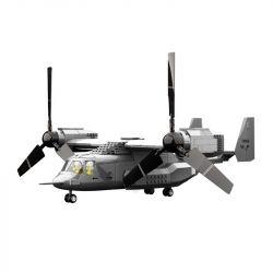 WANGE 5006 Xếp hình kiểu Lego MILITARY ARMY V-22 Osprey Aircraft V-22 Fish-eyed Tilt Rotor Máy Bay V-22 593 khối