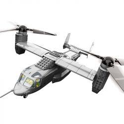 WANGE 5006 Xếp hình kiểu Lego MILITARY ARMY V-22 Osprey Aircraft máy bay V-22 593 khối