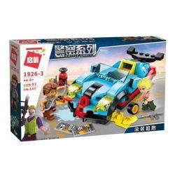Enlighten 1926 1926-1 1926-2 1926-3 1926-4 Qman 1926 1926-1 1926-2 1926-3 1926-4 Xếp hình kiểu Lego Battle Force Police Series 4 Plunder Bills, Patrol Cars, Painted Super Run, Track Crime Scene Đội Cả