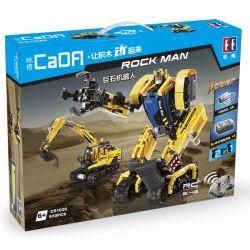 DOUBLEE CADA C51026 51026 Xếp hình kiểu Lego TECHNIC Rock Man Jumite Robot, Excavator Robot Biến Hình Máy Xúc điều Khiển Từ Xa 930 khối điều khiển từ xa