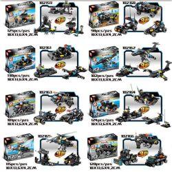 Sembo 102159 102160 102161 102162 102163 102164 102165 102166 (NOT Lego SWAT Special Force Swat ) Xếp hình Đội Đặc Nhiệm Diều Hâu Đen gồm 8 hộp nhỏ 915 khối