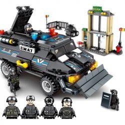 SEMBO 102407 Xếp hình kiểu Lego SWAT SPECIAL FORCE SWAT Đội đặc nhiệm Black Hawk: Bảo vệ ngân hàng 549 khối