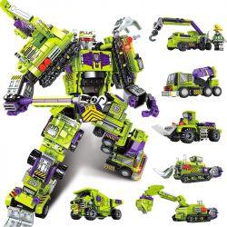 Sembo 103081 103082 103083 103084 103085 103086 (NOT Lego Transformers Mecha Of Steel ) Xếp hình Người Máy Biến Hình Kết Hợp 6 Mẫu Xe Phương Tiện Xây Dựng gồm 6 hộp nhỏ lắp được 7 mẫu 709 khối