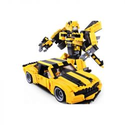 GUDI 8715 QIZHILE 31014 Xếp hình kiểu Lego TRANSFORMERS Transform Series Deformation Series Yellow Bee Golden Upgrade Robot Biến Hình Bumblebee Bản Nâng Cấp lắp được 2 mẫu 584 khối