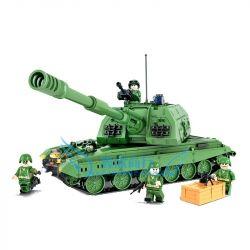Winner 8102 Xếp hình kiểu Lego TANK BATTLE TankBattle Land War 2S19 Self-bullman Xe Tăng Chiến Đấu 533 khối