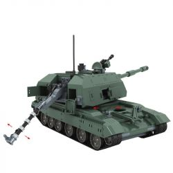 Winner 8102 Xếp hình kiểu Lego TANK BATTLE TankBattle War Hero 2S19 Self-propelled Howitzer Xe Tăng Chiến Đấu 533 khối