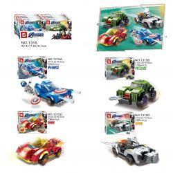 SHENG YUAN SY 1315 SY1315 1315 SY1315A 1315A SY1315B 1315B SY1315C 1315C SY1315D 1315D Xếp hình kiểu Lego SUPER HEROES Heroes Assemble 4 Chiến cơ siêu anh hùng gồm 6 hộp nhỏ 531 khối